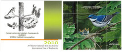 CONSERVATION DES HABITATS FAUNIQUES DU QUEBEC -  PARULINE AZUREE 2010 (NON-SIGNÉ) 23