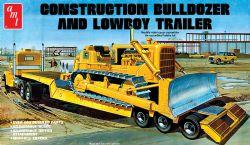 CONSTRUCTION -  BULLDOZER ET TRAILER LOWBOY1/25 (MOYEN)