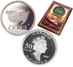 CONTES ET LÉGENDES -  LE COCHON RECALCITRANT -  PIÈCES DU CANADA 2002 04