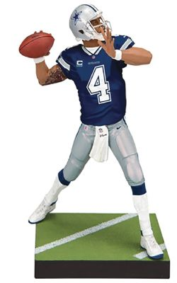 COWBOYS DE DALLAS -  FIGURINE DE DAK PRESCOTT #04 (15 CM) -  MADDEN NFL 19 ULTIMATE TEAM SERIES