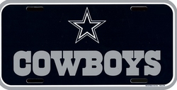 COWBOYS DE DALLAS -  PLAQUE D'IMMATRICULATION