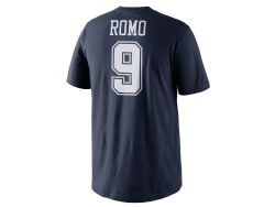 COWBOYS DE DALLAS -  T-SHIRT #9 TONY ROMO - BLEU
