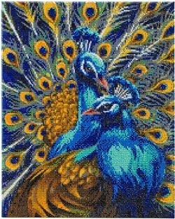 CRAFT BUDDY -  PAONS RHAPSODIE BLEU (50 CM X 40 CM)