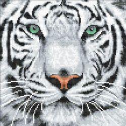 CRAFT BUDDY -  TIGRE DE NEIGE (30 CM X 30 CM)