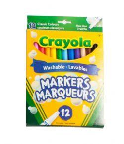CRAYOLA -  12 MARQUEURS LAVABLES COULEURS CLASSIQUES