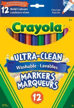 CRAYOLA -  12 MARQUEURS LAVABLES COULEURS INTENSE
