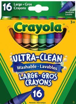 CRAYOLA -  16 GROS CRAYONS LAVABLES