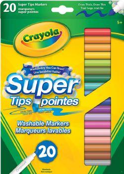 CRAYOLA -  20 MARQUEURS LAVABLES SUPER POINTES