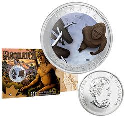 CREATURES MYTHIQUES DU CANADA -  SASQUATCH -  PIÈCES DU CANADA 2011 01