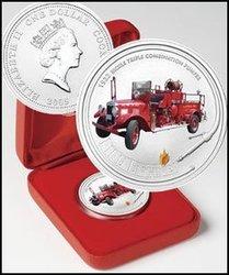 Camions de pompier du monde -  CAMION DE POMPIER 1932 -  Pièces des Îles Cook 2005