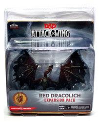 D&D MINIATURES -  RED DRACOLICH EXPANSION PACK -  D&D ATTACK WING LE JEU DE FIGURINES