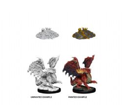 D&D MINIATURES -  RED DRAGON WYRMLING -  D&D NOLZUR'S MARVELOUS UNPAINTED MINIATURES