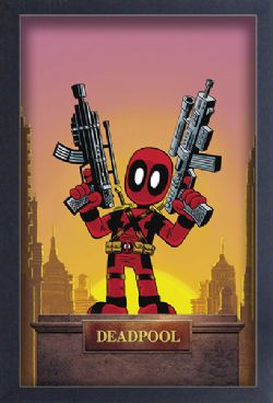 DEADPOOL -  IMAGE ENCADRÉE - SCOTTIE YOUNG (33 CM X 48 CM)