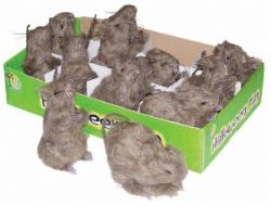 DECORATIONS -  RAT POILU BRUN (10cm)