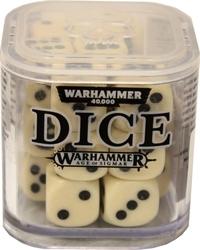 DES SPECIAUX -  ENSEMBLE DE D6 POUR WARHAMMER (20) - BLANC