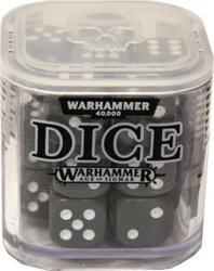 DES SPECIAUX -  ENSEMBLE DE D6 POUR WARHAMMER (20) - GRIS