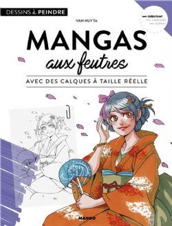 DESSIN -  MANGAS AUX FEUTRES AVEC DES CALQUES À TAILLE RÉELLE