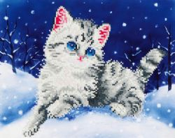 DIAMOND DOTZ -  KITTEN IN THE SNOW (INTERMÉDIAIRE, 14