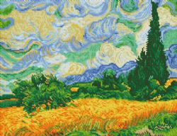 DIAMOND DOTZ -  WHEAT FIELDS (VAN GOGH) (INTERMÉDIAIRE, 20
