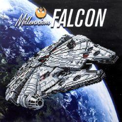 DIAMOND PAINTING -  FAUCON MILLENIUM -  STAR WARS