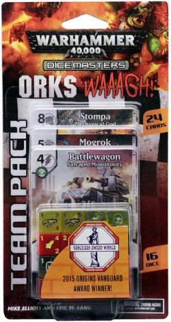 DICE MASTERS -  ORKS WAAAGH! - TEAM PACK (ANGLAIS) -  WARHAMMER 40K