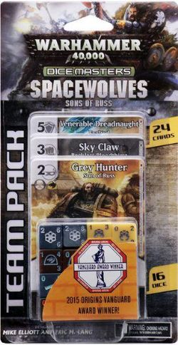 DICE MASTERS -  SPACEWOLVES - TEAM PACK (ANGLAIS) -  WARHAMMER 40K