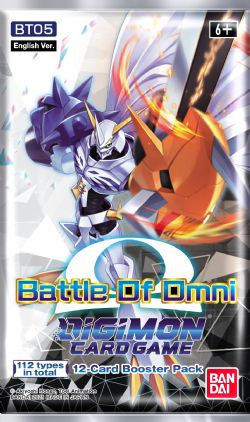 DIGIMON CARD GAME -  PAQUET BOOSTER BATTLE OF OMNI (ANGLAIS) (P12/B24/C12)