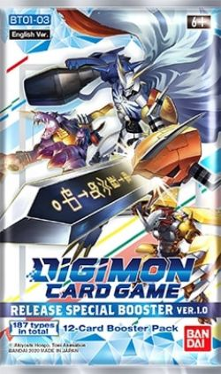 DIGIMON CARD GAME -  PAQUET RECHARGE SPECIAL 1.0 (ANGLAIS)