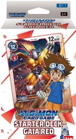 DIGIMON CARD GAME -  STARTER DECK - GAIA RED (ANGLAIS)