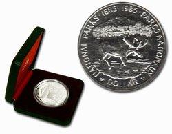 DOLLARS ÉPREUVES NUMISMATIQUES -  100E ANNIVERSAIRE DES PARCS NATIONAUX -  PIÈCES DU CANADA 1985