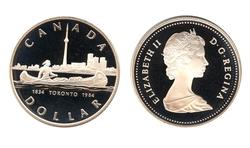 DOLLARS ÉPREUVES NUMISMATIQUES -  150E ANNIVERSAIRE DE L'INCORPORATION DE LA VILLE DE TORONTO EN 1834 -  PIÈCES DU CANADA 1984
