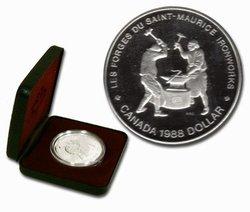 DOLLARS ÉPREUVES NUMISMATIQUES -  250E ANNIVERSAIRE DES FORGES DU SAINT-MAURICE -  PIÈCES DU CANADA 1988