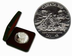 DOLLARS ÉPREUVES NUMISMATIQUES -  BICENTENAIRE DE LA RIVIÈRE MACKENZIE -  PIÈCES DU CANADA 1989