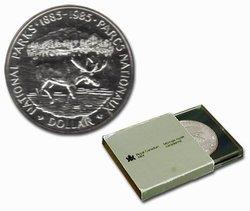DOLLARS BRILLANTS -  100EME ANNIVERSAIRE DES PARCS NATIONAUX -  PIÈCES DU CANADA 1985