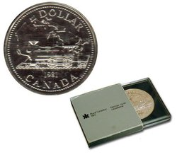 DOLLARS BRILLANTS -  100EME ANNIVERSAIRE DU CHEMIN DE FER PAN-CANADIEN -  PIÈCES DU CANADA 1981