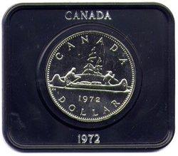 DOLLARS SPÉCIMENS EN NICKEL -  LE MOTIF VOYAGEUR -  PIÈCES DU CANADA 1972 05