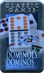 DOMINOS -  DOMINOS DOUBLE 12 (POINTS DE COULEUR) TRAIN MEXICAIN (BILINGUE)