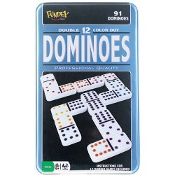 DOMINOS -  DOMINOS DOUBLE 12 (POINTS DE COULEUR)