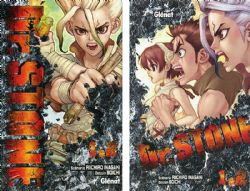 DR. STONE -  COFFRET EN 2 VOLUMES (TOMES 01 ET 02) AVEC UN BLOC-NOTES (V.F.)