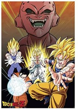 DRAGON BALL Z -  BUU VS SAIYANS AFFICHE  (91,5 X 61 CM)