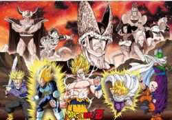 DRAGON BALL Z -  GROUPE ARC CELL AFFICHE  (91,5 X 61 CM)