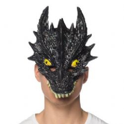 DRAGONS -  MASQUE DE DRAGON BRILLANT - NOIR - SUPER SOUPLE