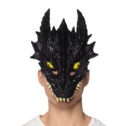 DRAGONS -  MASQUE DE DRAGON - NOIR - SOUPLE