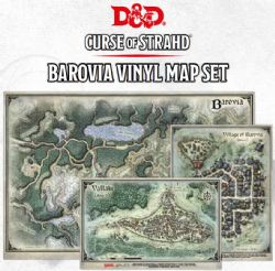 DUNGEONS & DRAGONS 5 -  CURSE OF STRAHD - VINYL MAP SET