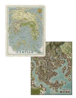 DUNGEONS & DRAGONS 5 -  DOUBLE SIDED MAP OF THYLEA & MYTROS -  ODYSSEY OF THE DRAGONLORDS