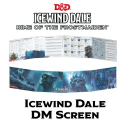 DUNGEONS & DRAGONS 5 -  DUNGEON MASTER'S SCREEN - RIME OF THE FROSTMAIDEN (ANGLAIS) -  ICEWIND DALE