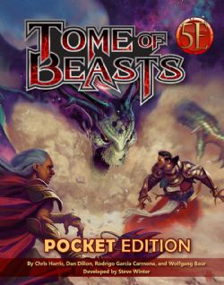 DUNGEONS & DRAGONS 5 -  FIFTH EDITION FANTASY - TOME OF BEASTS (ANGLAIS) -  POCKET EDITION