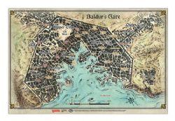 DUNGEONS & DRAGONS 5 -  GAME MAT - BALDUR'S GATE MAP (23