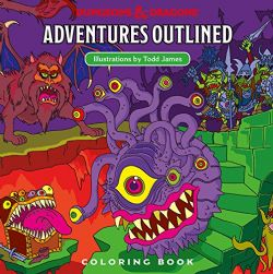 DUNGEONS & DRAGONS -  ADVENTURES OUTLINED COLORING BOOK (ANGLAIS)