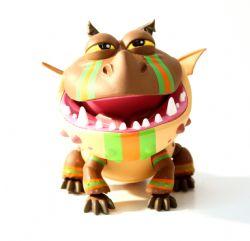 Dragons -  Figurine articulée de Bouledogre - avec rayures de course (15 cm)